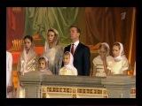 Д. Медведев на Рождественской службе в Храме Христа Спасителя
